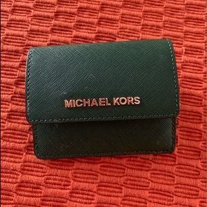 Small MK leather wallet
